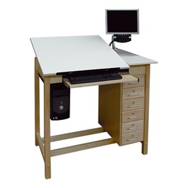 CAD Drawing Table w/ Drawer Base