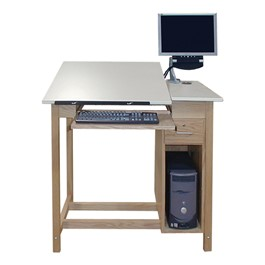 CAD Drawing Table w/ CPU Cabinet
