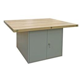 Art Workstation w/ Steel Cabinet Base