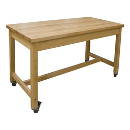 Makerspace Mobile Project Worktable - Hard Maple Top
