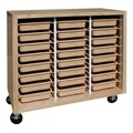 Mobile Storage Cabinet w/ 24 Tote Trays