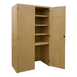 Makerspace Project Storage Cabinet w/ Opening for Mobile Support Cart
