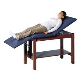 Space Saver Treatment Bed w/ Adjustable Headrest & Storage Shelf