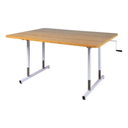 Hand Crank Adjustable Height Table