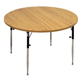 Round Knob-Adjusted Wheelchair Accessible Activity Table