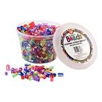Bucket O' Beads - Striped Straw Beads - 700 Pieces
