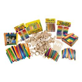Wood Sticks & Shapes Activity Kit