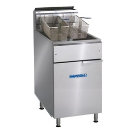 Stainless Steel Gas Fryer - Tube Fired (75 lbs)