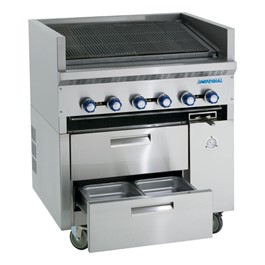 """36\"""" W Sizzle N\' Chill Range w/ Radiant Char-Broiler"""