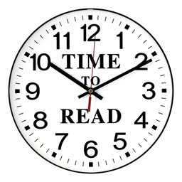Infinity Instruments Ltd Time To Read Wall Clock At School Outfitters