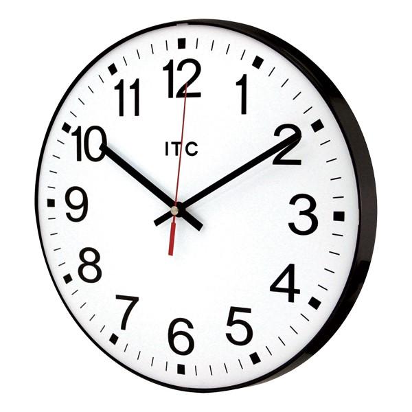 "12"" Basic Plastic Wall Clock (angle view)"