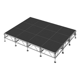 AllTerrain Weather-Resistant Portable Stage Package (16\' L x 12\' D) - Twelve 4\' W x 4\' L Stages