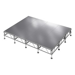 AllTerrain Weatherproof Portable Stage Package (16\' L x 12\' W) - Twelve 4\' W x 4\' L Stages