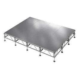AllTerrain Weatherproof Portable Stage Package (16\' L x 12\' W) - Twelve 4\' W x 4\' L Stages