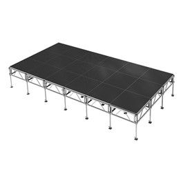 AllTerrain Weather-Resistant Portable Stage Package (24\' L x 12\' D) - Eighteen 4\' W x 4\' L Stages