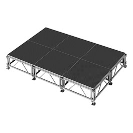 AllTerrain Weather-Resistant Portable Stage Package (12\' L x 8\' D) - Six 4\' W x 4\' L Stages