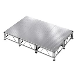 AllTerrain Weatherproof Portable Stage Package (12\' L x 8\' W) - Six 4\' W x 4\' L Stages