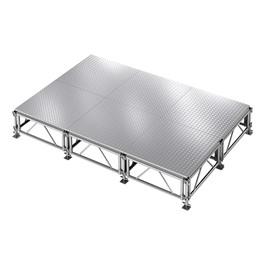 AllTerrain Weatherproof Portable Stage Package (12\' L x 8\' W) - Six 4\' W x 4\' L Stages