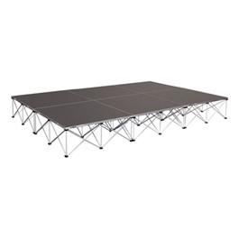 """Drum Riser System Package - Carpet Deck (12\' L x 8\' D x 16\"""" H)"""