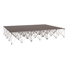 Drum Riser System Package - Carpet Deck (12\' L x 8\' D x 2\' H)