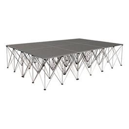 """Drum Riser System Package - Carpet Deck (12\' L x 8\' D x 2\' 8\"""" H)"""