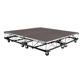 4. Mobile Drum Riser System Package - Carpet Deck