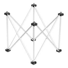 "4\' x 4\' Triangle Platform Base - 16\"" H"