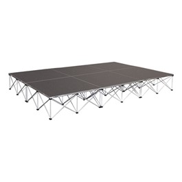 """Rectangle Portable Stage System Package - 24\' L x 12\' D x 16\"""" H"""