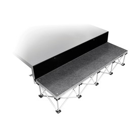 """101 Series Stage Step Package w/ Carpet Deck - One Step (For use w/ 16\"""" H Units)"""