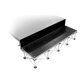 """101 Series Stage Step Package w/ Industrial Deck - One Step (For use w/ 16\"""" H Units)"""