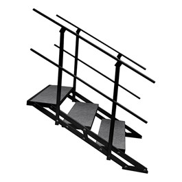 """101 Series Stage Step Package w/ Carpet Deck - Three Step (For use w/ 24\"""" or 32\"""" H Units)"""