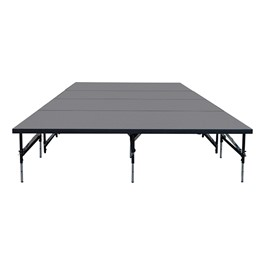 """101 Series Stage System Package w/ Industrial Deck (16\' L x 8\' D x 16\' or 24\"""" H)"""