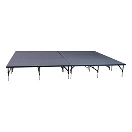 """101 Series Stage System Package w/ Carpet Deck (16\' L x 12\' D x 24\"""" or 32\"""" H)"""