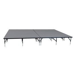 "101 Series Stage System Package w/ Industrial Deck (16\' L x 12\' D x 16\' or 24"" H)"