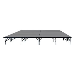 """101 Series Stage System Package w/ Industrial Deck (16\' L x 16\' D x 24\' or 32\"""" H)"""