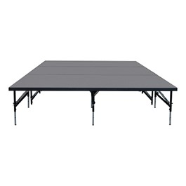 """101 Series Stage System Package w/ Industrial Deck (12\' L x 8\' D x 16\' or 24\"""" H)"""