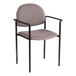 200 Series Waiting Room Stack Chair w/ Straight Arm Rests - Pearl