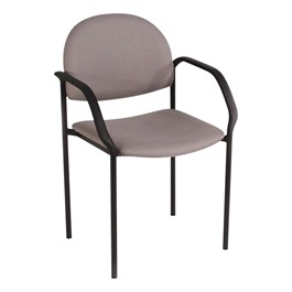 200 Series Waiting Room Stack Chair w/ Sloped Arm Rests - Pearl