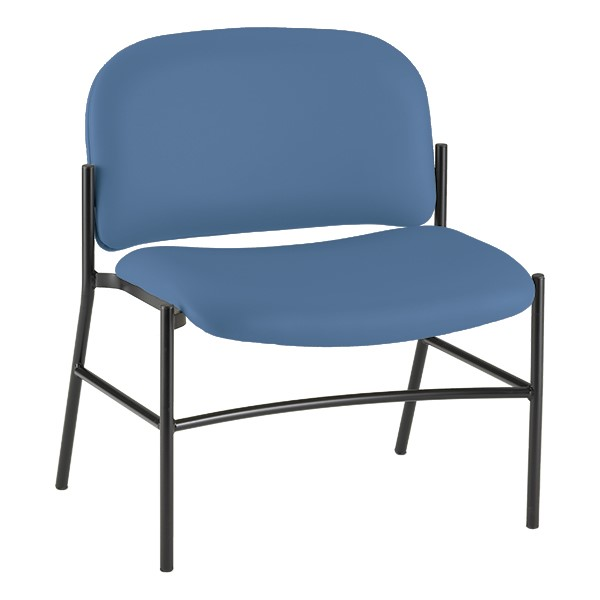 Bariatric Waiting Room Chair w/out Arm Rests - Blue
