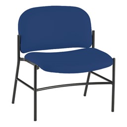 Bariatric Waiting Room Chair w/out Arm Rests - Navy