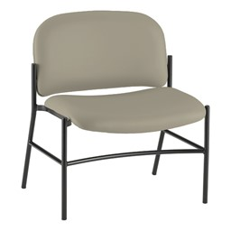 Bariatric Waiting Room Chair w/out Arm Rests - Pearl