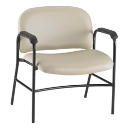 Bariatric Waiting Room Chair w/ Arm Rests - Alabaster