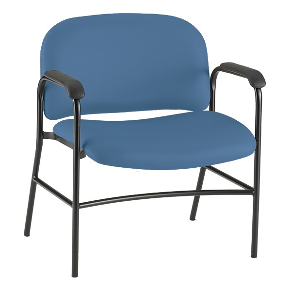 Bariatric Waiting Room Chair w/ Arm Rests - Blue