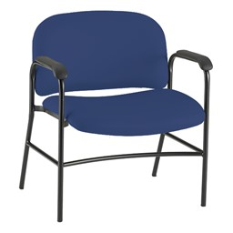 Bariatric Waiting Room Chair w/ Arm Rests - Navy