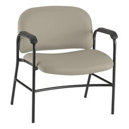 Bariatric Waiting Room Chair w/ Arm Rests - Pearl
