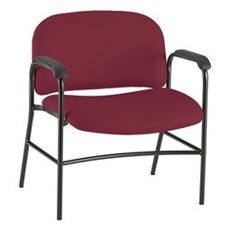 Bariatric Waiting Room Chair w/ Arm Rests - Port