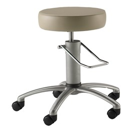 740 Series Surgical Stool - Shown w/ brushed aluminum base