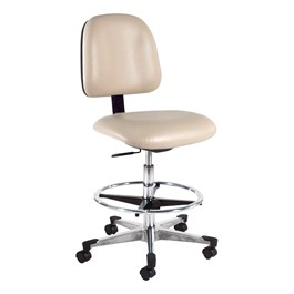 810 Series Lab Chair w/ Aluminum Base & Toe Caps