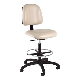 830 Series Mobile Lab Chair w/ Back & Seat Adjustments - Black Composite Base