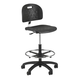 840SQ Series Self-Skin Lab Chair - Black Composite Base w/ Casters